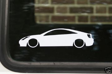 2x Low car outline stickers - Toyota celica T230,T sport,VVTLI
